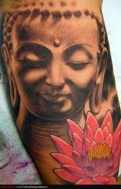 buddha and lotus tattoo