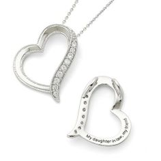Sterling silver antiqued cz daughter in law 18in necklace sentimental
