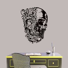 Shop for on Etsy, the place to express your creativity through the buying and selling of handmade and vintage goods. Sugar Skull Decor, Cake Toppers, Wall Decals, Room Decor, Stickers, Murals, Color, Living Room, Patterns