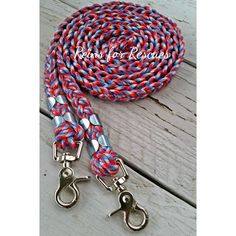 American Flag Riding Reins with Red, White & Blue