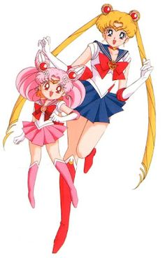 Sailor Moon and Sailor Chibi Moon