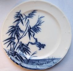 RARE French Majolica Plate signed LONGWY: FROG jumping in the pond in Pottery & Glass, Pottery & China, Art Pottery | eBay