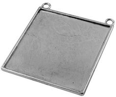 Mega Large Square Picture Jewelry Pendant Blank 1 3/4 inch