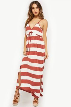 Product Name:AnM Striped Maxi Dress, Category:dress, Shop Forever, Forever 21, Striped Maxi Dresses, So Little Time, Latest Trends, 21st, Best Deals, Tees, Skirts