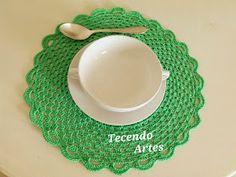 by Tecendo Artes Crochet Doily Patterns, Crochet Squares, Crochet Granny, Crochet Doilies, Crochet Earrings, Diy Crafts, Handmade, Crochet Tutorials, Crochet Ideas
