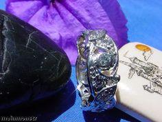 20 Vintage Deco Platinum Anniversary Wedding Band Filigree Diamond Eternity Ring | eBay