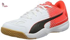 Puma 102581, chaussures de sport - football homme - - Weiss (white-limoges-ribbon red 01), 44.5 EU