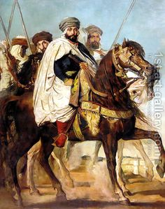 Theodore Chasseriau:Ali Ben Ahmed, the Last Caliph of Constantine, with his Entourage outside Constantine, 1845