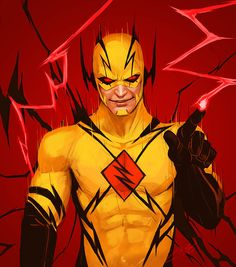 Eobard Thawne aka Professor Zoom/Reverse Flash from the The Flash Issue 41 (c) DC Comics Professor Zoom Flash Comics, Arte Dc Comics, Marvel Comics, Anime Comics, Reverse Flash, O Flash, Flash Art, Flash Point, Eobard Thawne