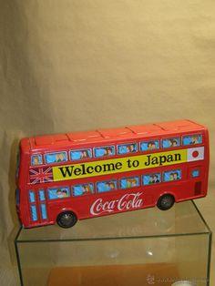 1970s Coca-Cola Tin  doble decker bus. 44X20 cms. Japan