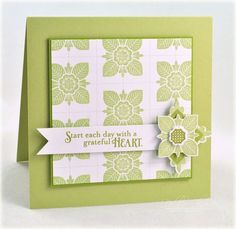 Grateful Heart Card by Debbie Olson for Papertrey Ink (June 2012)