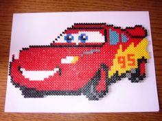 sandylandya@outlook.es Cars McQueen hama perler by la ch'tite aiguille