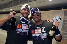 JD Martinez & Victor Martinez - 2014 ALDS Central Champs - 9/28/14 #Detroit #Tigers
