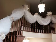 unique railing decor by Timeless Creative Decor Home Wedding, Creative Decor, Event Decor, Special Day, Wedding Decorations, Unique, Design, Wedding At Home