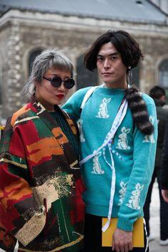 LFW AW16 | Day 3 | Street Style | P Cristina Fragkou | Poponali // Patchwork // Fur // Colour // round glasses