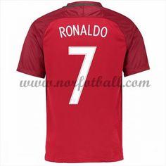 Portugal 2016 Landslagsdrakt Cristiano Ronaldo 7 Kortermet Hjemme Fotballdrakter Cristiano Ronaldo 7, Portugal, Ronaldo Shirt, Football Soccer, Asylum