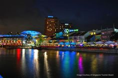 More than 60 restaurants, bars, pubs, clubs and lounges lined the Singapore River at Clarke Quay. If pub-hopping is your thing, you will be spoilt for choice with the many clubs, bars and pubs at Clarke Quay. MRT: Clarke Quay