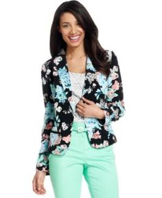 Charter Club Blazer, Floral-Print Soft Blazer