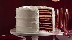 Take your holiday celebration to impressive new heights! Once you cut into this stunning cake, guests will go gaga over all 18 layers.  You don't have to reveal how easy it is to make. We won't tell.