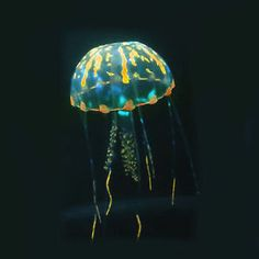"5.5"" Glowing Effect Artificial Jellyfish Orange"