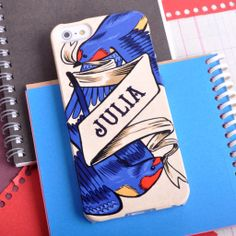 Personalised Swallow Tattoo Case For iPhone. £19.99 / $34.50 / €25.00 Available for iPhone and Samsung Galaxy smartphones. Free World-wide shipping. http://www.giantsparrows.co.uk/products/personalised-swallow-tattoo-case-for-iphone