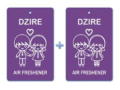 Dzire Air Freshener Paper Hanging Bar (Pack of 2)/ Car-Home-Office Natural Perfume Pocket Deodorizer