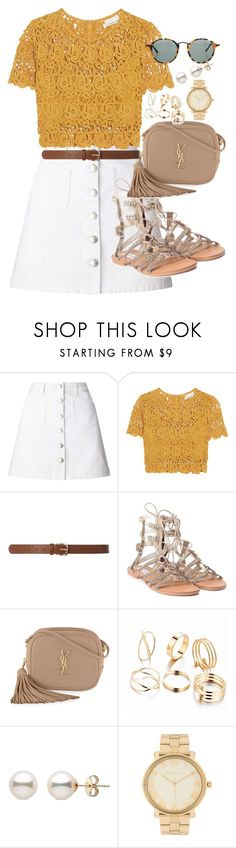 """""""outfit 95"""" by caa123 ❤ liked on Polyvore featuring Miss Selfridge, Miguelina, Dorothy Perkins, Steve Madden, Yves Saint Laurent, Michael Kors and Ray-Ban"""