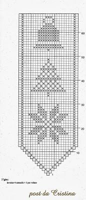 A thousand ideas for Christmas: A beautiful Sosyal bow - Work outfits women Filet Crochet Charts, Crochet Motifs, Afghan Crochet Patterns, Crochet Squares, Crochet Doilies, Crochet Lace, Cross Stitch Patterns, Christmas Crochet Blanket, Christmas Crochet Patterns