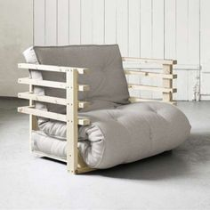 Genial Fresh Futon Natural Wood Funk Chair   Walmart.com