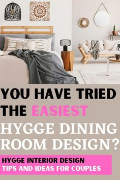 Dining room ideas with Hygge. Use these quick and easy tips to get the best hygge dining room design!