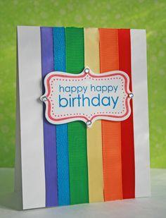 Cute idea for using ribbon on a #card.