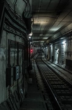 Creepy subway tunnel