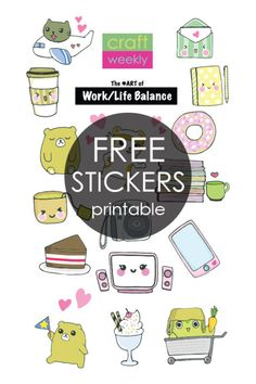 A free printable to make these CUTE DIY stickers or planner bookmarks! Just…
