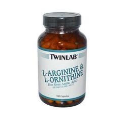 Twinlab L-Arginine and L-Ornithine - 100 Capsules