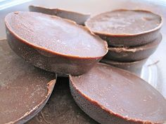 Healthy Chocolate ~ When you need a healthy sweet: so good. just five ingredients- coconut oil, cocoa powder, almond/peanut butter, honey, vanilla..