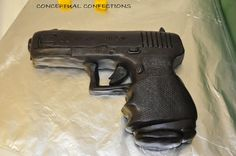 Glock Gun, gumpaste, fondant and RKT