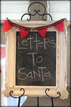 Station to write letters to Santa.  Could also create a North Pole mailbox for them to put their letters on by Santa's seat