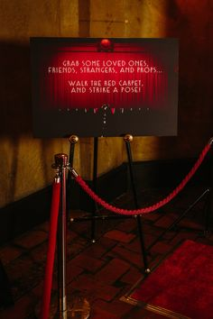 Red carpet photo booth - Hollywood wedding ~ GC Photo Booth