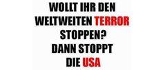 DER US-TERRORSTAAT ZWINGT DIE GESAMTE WELT IN EINE KATASTROPHE Sticker, Button, Flyer, Handzettel, Protest, Revolution, Demonstration, wahre Worte, Befreiung, Freiheit, Europa, Deutschland