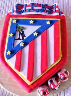 Tarta escudo atleti fondant