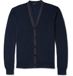 ec731d215 Etro Contrast-Knit Wool Cardigan