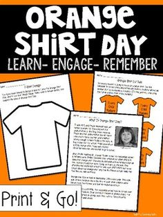 Orange Shirt Day by Light Up Learning Labs Social Studies Resources, Teaching Social Studies, Help Teaching, Teaching Resources, Aboriginal Education, Indigenous Education, Kindergarten Writing, Teaching Writing, Literacy