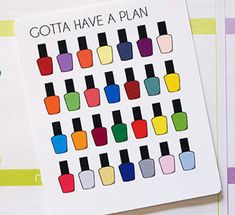 You will receive one sheet of 21 Nail Polish stickers.  Stickers are printed on matte, non-removable sticker paper, perfect for your Erin Condren planner, other planners and many more! Each sticker comes kiss cut and ready to be used. Stickers are approximately .59 x .29   For planning inspiration or discount codes, visit my Instagram account @gottahaveaplan