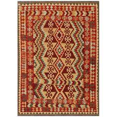 Herat Oriental Afghan Hand-woven Tribal Kilim Red/ Rug