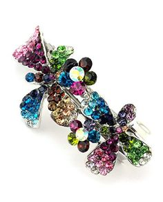 Womens Rhinestone Flower Hair Barrette Clip Hair Pin Antique Silver IMB2072 Multi >>> See this great product.(This is an Amazon affiliate link and I receive a commission for the sales)