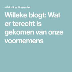 Willeke blogt: Wat er terecht is gekomen van onze voornemens