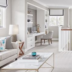 home office nook. I might start saying it anyway so I sound international image via snap from their stunning Bayville display home. Office Nook, Home Office Space, Home Office Design, Home Office Furniture, Home Office Decor, Home Decor, Desk Nook, Design Desk, Study Office