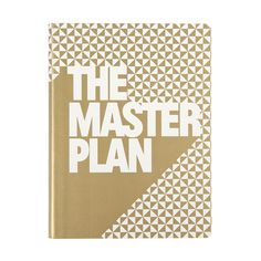 "Nuuna - ""The Master Plan"" Leather Notebook - Gold"