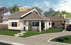 Telhado colonial: estilo e tradição em um dos tipos de telhados mais utilizados Loft Design, House Design, House Construction Plan, Architectural House Plans, Tuile, Architect House, House Entrance, House Layouts, House Goals