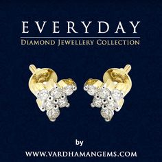 Everyday Presenting beautiful studs for working women!!! from http://www.vardhamangems.com